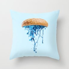 JELLYBURGER Throw Pillow