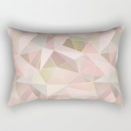 Broken glass in light pink tones. Rectangular Pillow