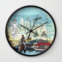 technology Wall Clocks featuring  Transportation  technology by Design4u Studio