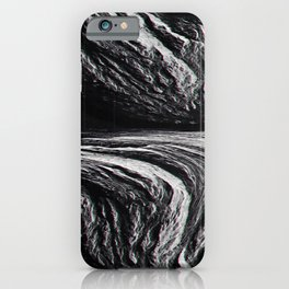 Erosion Glitch Distortion Textures Optical Delusions iPhone Case