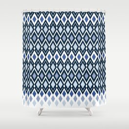 Diamonds in colors of sea and sky Shower Curtain