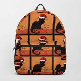 Le Chat Noel Christmas Parody Grungy Distressed Vintage Cat Backpack