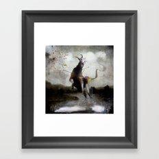 the golden fawn Framed Art Print