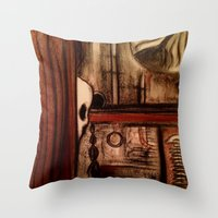 moby dick Throw Pillows featuring Moby Dick by Leon T. Arrieta
