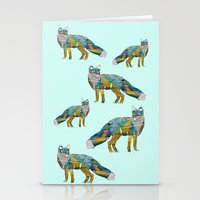 foxes Stationery Cards featuring Foxes by nessieness