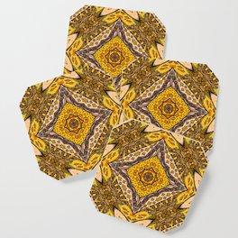 Autumn leaves Mandala Coaster