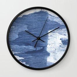 Dark slate blue watercolor Wall Clock