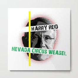 Harry Reid Is A Weasel Metal Print