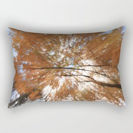 Forest upside down, fall leaves, sky, shadows Rectangular Pillow