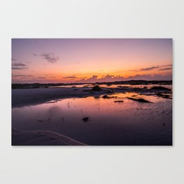 Tide Pool Sunset Canvas Print