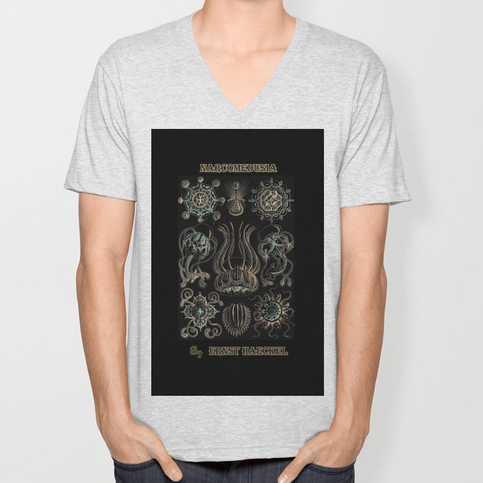 """""""Narcomedusia"""" from """"Art Forms of Nature"""" by Ernst Haeckel Unisex V-Neck"""