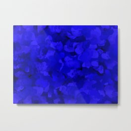 Rich Cobalt Blue Abstract Metal Print