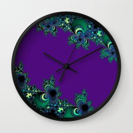 Asymmetrical Fractal 218 Wall Clock