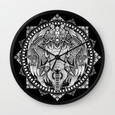 Elephant Medallion Wall Clock