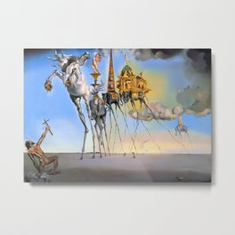 Salvador Dali The Temptation of St. Anthony 1946 Artwork for Wall Art, Prints, Posters, Tshirts, Men, Women, Kids Metal Print