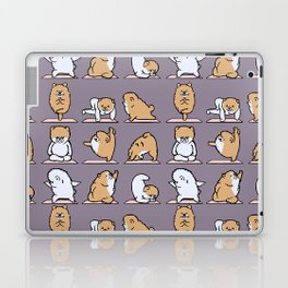 Pomeranian yoga Laptop & iPad Skin
