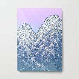 """遠望 series -""""Valley"""" - Linocut Metal Print"""