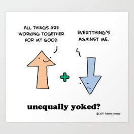 Working Out - Unequally Yoked Art Print