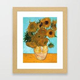 Vincent van Gogh - Still Life Vase with Twelve Sunflowers Framed Art Print