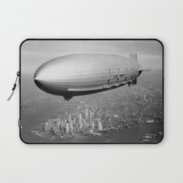 Airship Flying Over New York City Laptop Sleeve