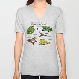 Gliding Frogs of the Asian Rainforests Unisex V-Neck
