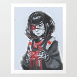 One-eyed Girl Cyborg Art Print