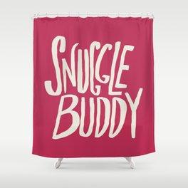 Snuggle Buddy x Pink Shower Curtain