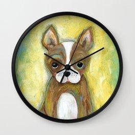 Puppy Painting, Children's Room Decor, Kid's Room, Wall Art, Dog Painting, Animal Art Wall Clock