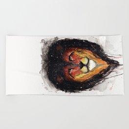 Fire Lion. Beach Towel
