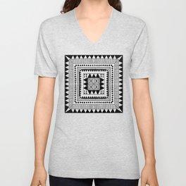 Black & White Symmetrical Pattern #1 Unisex V-Neck