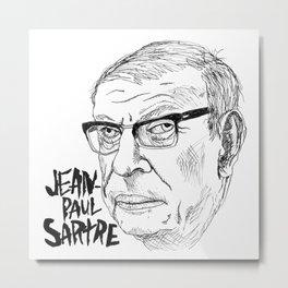 JEAN-PAUL SARTRE Metal Print