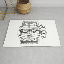 Italy Stamp Rug