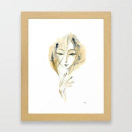 Madame Ochre Framed Art Print