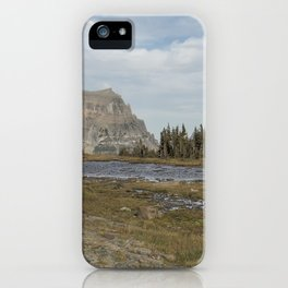 Mt Reynolds and Heavy Runner from Logan Pass iPhone Case