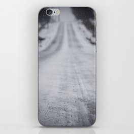 Down the Frozen Road iPhone Skin