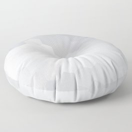 WHITE AND SILVER HONEY Floor Pillow