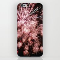 fireworks iPhone & iPod Skins featuring Fireworks by For the easily distracted...