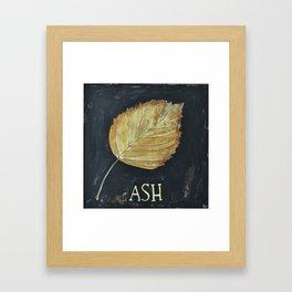 Hand-Painted Fall Ash Leaf Framed Art Print