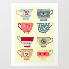 Tea Cups Art Print
