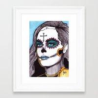 dia de los muertos Framed Art Prints featuring Dia de los Muertos by Joseph Walrave