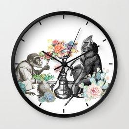 Hookah monkeys Wall Clock