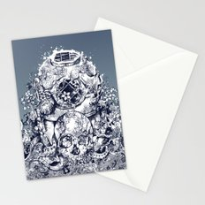 vintage floral skull 3 Stationery Cards
