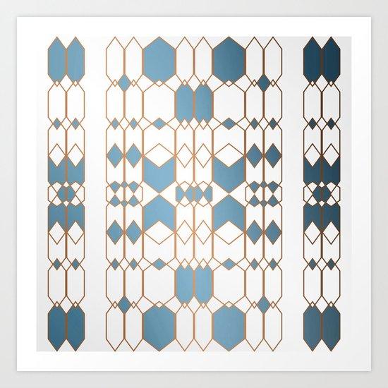 Patternbronze #1 Art Print