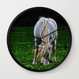 Horse Fractal Horse Wall Clock