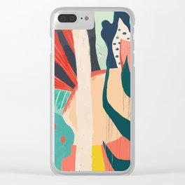 Floral Jungle Clear iPhone Case