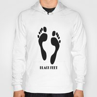 feet Hoodies featuring Black Feet by Art-Motiva