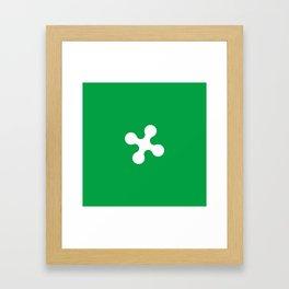 flag of lombardy Framed Art Print