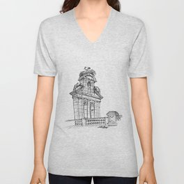 Bell gable Unisex V-Neck