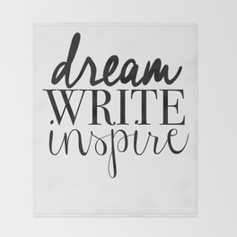 Dream. Write. Inspire. Throw Blanket
