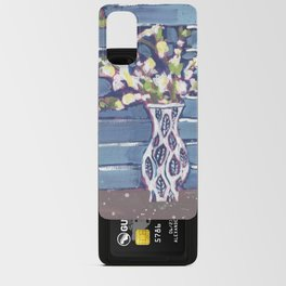 Blue Flowers in Vase Android Card Case